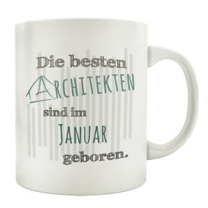 TASSE Kaffeebecher DIE BESTEN ARCHITEKTEN Architekt...