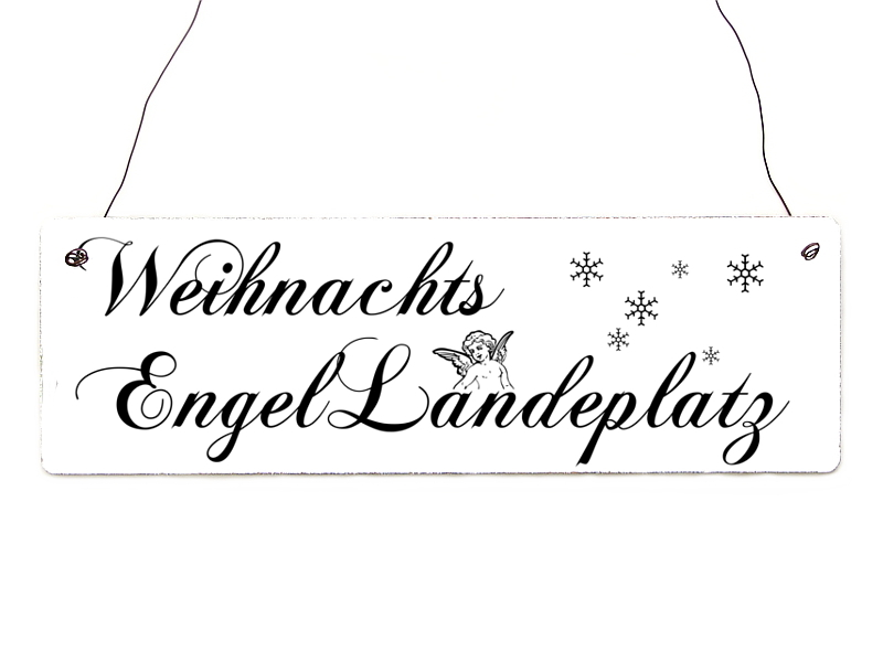 shabby vintage schild t rschild weihnachtsengel landeplatz. Black Bedroom Furniture Sets. Home Design Ideas