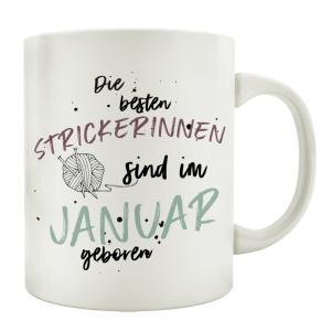 TASSE Kaffeebecher DIE BESTEN STRICKERINNEN Hobby Frau...