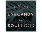 20x20cm METALLSCHILD GREENERY Türschild DONT BE EYECANDY...