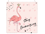 XL Holzschild Vintage Shabby STAY FLAMAZING Flamingo...