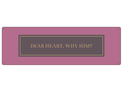 METALLSCHILD Blechschild DEAR HEART WHY HIM Liebe Liebeskummer Herz GOLDEN BERRY