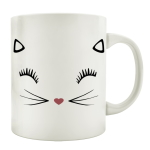 TASSE Kaffeebecher MISS KITTY Katze Milchkaffee...