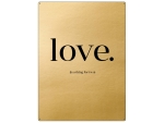 30x22cm GOLD Wandschild LOVE IS A THING FOR TWO Geschenk...