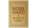 30x22cm GOLD Wandschild WORK HARD Metall Goldoptik Büro...