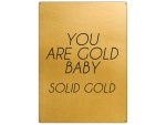 30x22cm GOLD Wandschild YOU ARE GOLD BABY SOLID GOLD...