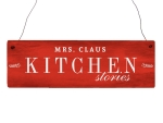 Holzschild Türschild MRS. CLAUS KITCHEN STORIES Winter...