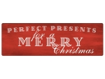 METALLSCHILD Blechschild PERFECT PRESENTS FOR A MERRY...