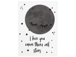 42x30cm Holzschild I LOVE YOU MORE THAN ALL STARS Sterne...