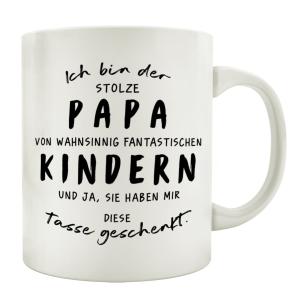 TASSE Kaffeetasse mit Spruch ICH BIN DER STOLZE PAPA VON...