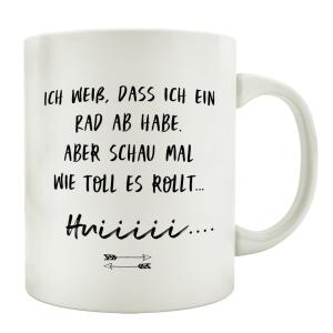 TASSE Kaffeetasse mit Spruch ICH WEIß DASS ICH EIN...