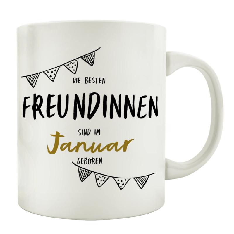 TASSE Kaffeebecher DIE BESTEN FREUNDINNEN Monat Geschenk Frau Mädchen BFF
