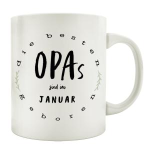 TASSE Kaffeebecher DIE BESTEN OPAS Monat...