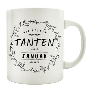 TASSE Kaffeebecher DIE BESTEN TANTEN Monat...