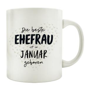 TASSE Kaffeebecher DIE BESTE EHEFRAU Monat...