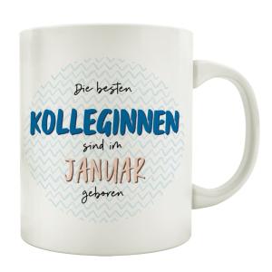 TASSE Kaffeebecher DIE BESTEN KOLLEGINNEN Monat Arbeit...