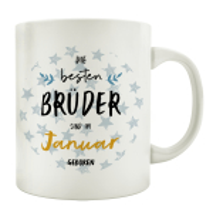 TASSE Kaffeebecher DIE BESTEN BRÜDER Monat...