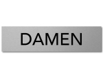 Interluxe Türschild DAMEN 200x50mm aus Aluminium,...