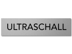 Interluxe Türschild Ultraschall 200x50x3mm, Schild...