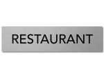 Interluxe Türschild Restaurant 200x50x3mm, Schild aus...
