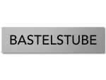 Interluxe Türschild Bastelstube 200x50x3mm, Schild aus...