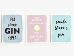 Interluxe Magnet 3er Set Eat Sleap Gin Repeat 95x70mm...