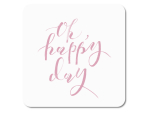INTERLUXE LED Glasuntersetzer -Oh Happy Day - leuchtende...