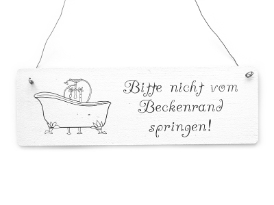 shabby vintage schild t rschild bitte nicht vom beckenrand sprin. Black Bedroom Furniture Sets. Home Design Ideas