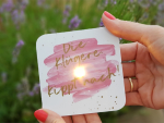 Interluxe LED Untersetzer - Oh happy day in Marmor &...