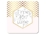 Interluxe LED Untersetzer - Time for wine in Marmor &...