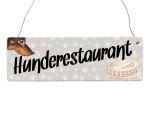 Interluxe Holzschild - Hunderestaurant - Türschild,...