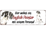 Interluxe Metallschild - Hier wohnt ein English Pointer -...