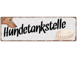 Interluxe Metallschild - Hundetankstelle (2) -...