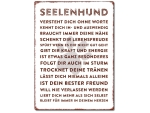 Interluxe Wandschild Metallschild - Seelenhund -...
