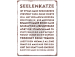 Interluxe Wandschild Metallschild - Seelenkatze -...