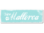 Interluxe Metallschild - Viva Mallorca - dekoratives...