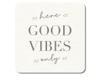 Interluxe LED Untersetzer - Good vibes only - leuchtender...