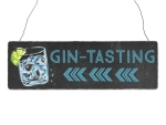 Interluxe Holzschild - Gin Tasting Pfeil links - Schild...