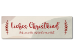 Interluxe Metallschild -  Liebes Christkind ach was solls...