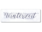 Interluxe Metallschild - Winterzeit Familie - Schild als...