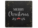 Interluxe Metallschild 20x20cm - Merry Christmas Black...