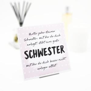 Interluxe Duftsäckchen - Hinter jeder kleinen Schwester - Duftgeschenk mit Spruch als Raumduft