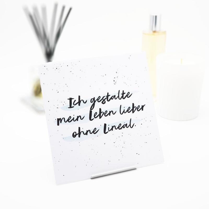 Interluxe Duft-Sachet - Ich gestalte mein Leben lieber ohne Lineal - Duftkissen mit Sprüchen und vielen Düften