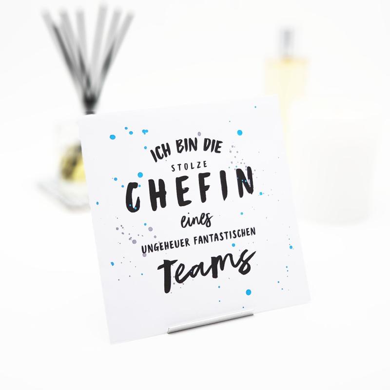 Interluxe Duftsachet - Ich bin die stolze Chefin - Duftsäckchen für Arbeit, Büro, Schreibtisch oder Job