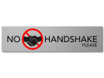 Interluxe Alu Türschild NO HANDSHAKE PLEASE 200x50x3mm...