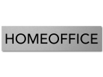 Interluxe Alu Türschild Homeoffice 200x50x3mm Schild aus...