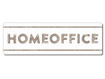 Interluxe Metallschild - Homeoffice Country - Schild...