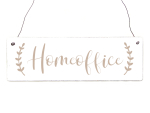 Interluxe Holzschild - Homeoffice Boho - Türschild...
