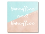 Interluxe Metallschild 20x20cm - Homeoffice sweet...