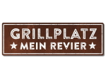 Interluxe Metallschild - Grillplatz mein Revier - Schild...